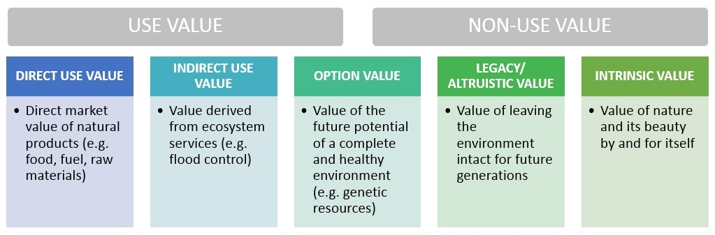 use and non-use value of nature